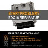 Reparatur Audi 2,0 TDI EDC16 Motorsteuergerät 03G997016QX 03G 997 016 QX 0281011847 0 281 011 847