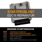 Reparatur VW Caddy 1,9 TDI EDC16 Motorsteuergerät 03G906016DM 03G 906 016 DM 0281011882 0 281 011 882