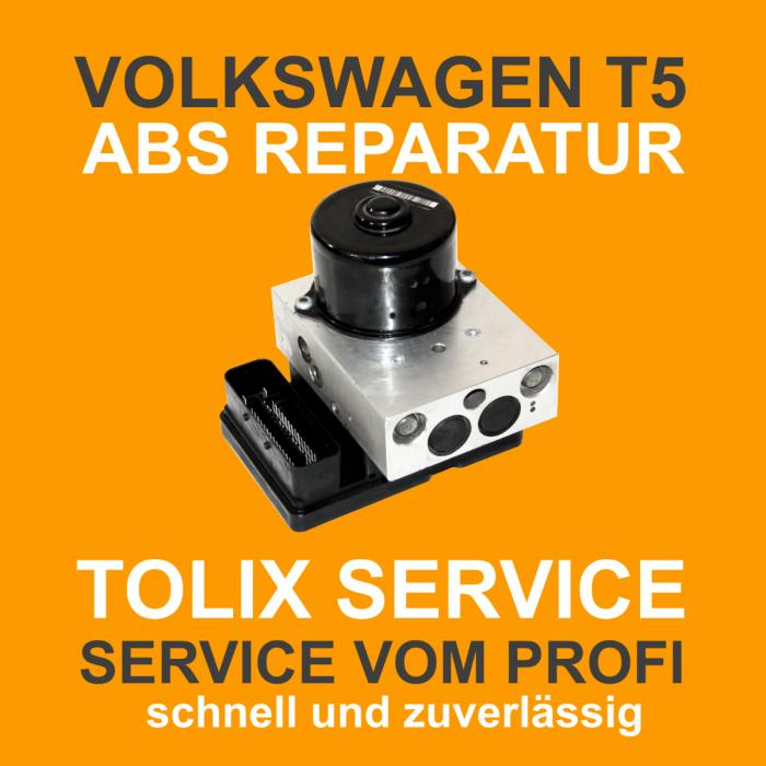 VW T5 ABS Block Reparatur 7H0907379E 7H0614111E 5WK84010 01276 04FC Pumpenmotor