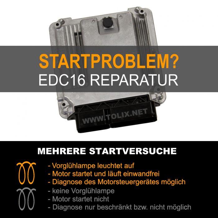 Reparatur VW Touran 2,0 TDI EDC16 Motorsteuergerät 03G906016A 03G 906 016 A 0281010731 0 281 010 731