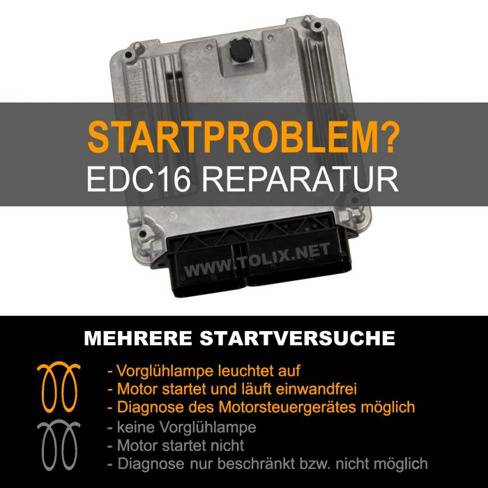 Reparatur VW Touran 1,9 TDI EDC16 Motorsteuergerät 03G906016CD 03G 906 016 CD 0281011945 0 281 011 945