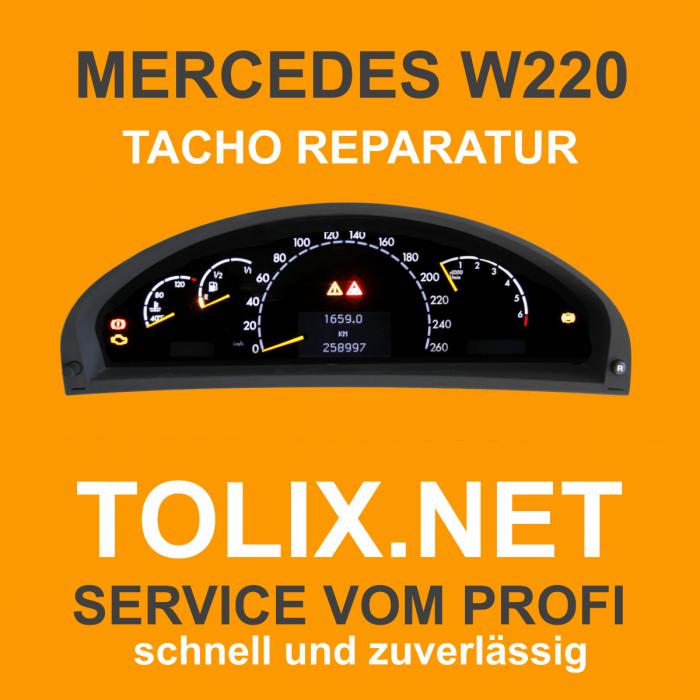 Reparatur der Hintergrundbeleuchtung im Mercedes W220 Tacho / Tachoreparatur